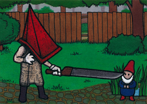 Pyramid Head - Backyard Adventures by Yamallow