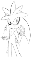Silver The Hedgehog by danmonxd219