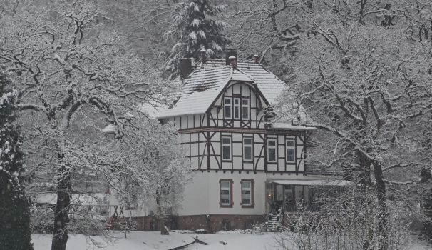 Half-timber house in the winter by UdoChristmann