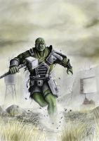 Fallout: Super mutant charge by HrvojeSilic