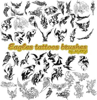 Eagles tattoos brushes by MARY1976