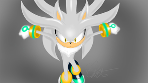 Silver The Hedgehog (colored) by shnif-01