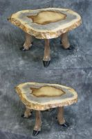 Deer Leg Footstool or Table by DiamondDustTaxidermy