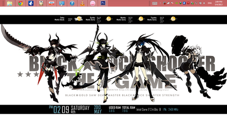 Black Rock Shooter Rainmeter Skin 1.2.2 by FadeOffset
