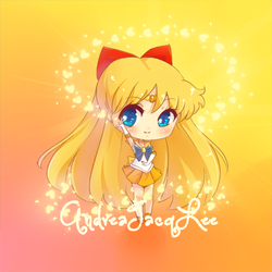 Sailor Venus Chibi Sticker by Kairui-chan
