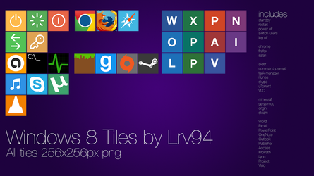 Windows 8 Tiles (For Obly Tile) by lrv94