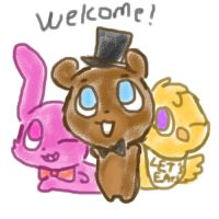 Welcome to fazbear's pizza! by Cookie-and-her-foxes
