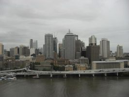 cloudy day in brisbane by Mahrama