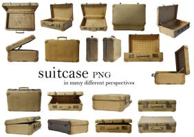suitcase_PNG  in different perspectives by Susannehs