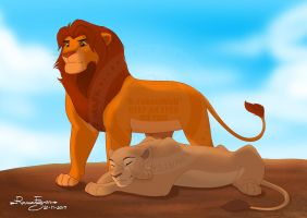 The King and His Queen by R-FakonWolf
