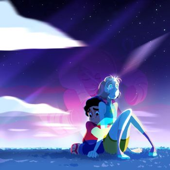 Steven Universe + Pearl by guywhodoesart
