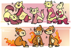 PKMNN - Chimchar X Mienfoo Clutch (SOLD)