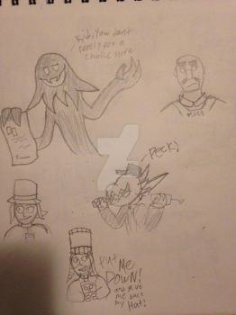 Hat in Time Doodles