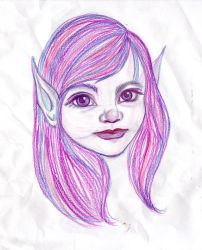 Thank you Fairy Sketch by pootoo