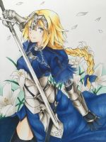 Jeanne D'arc from Fate/Apocrypha  by RPanimedrawing