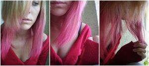 Pink Hair by Bees-In-The-Caramel