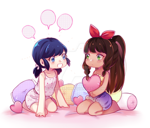 Commission - Marinette and Lila by nomae0527