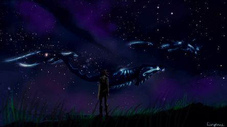 Mantas at night by Levest