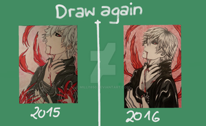 100 pictures kaneki draw-again by Milli1850