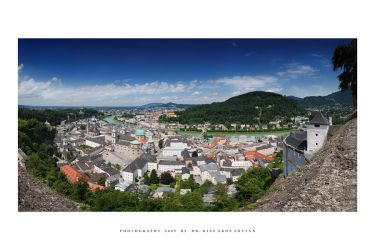 The city of Salzburg by DimensionSeven