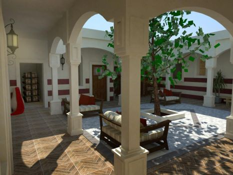 Traditional Libyan Courtyard House by NadaBenghazi