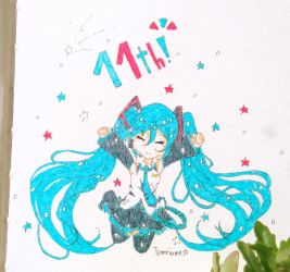 Happy Birthday to Miku! by Tomeiame
