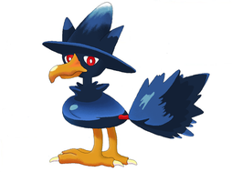 Murkrow in MS Paint