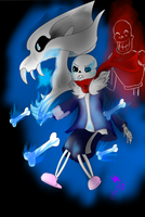Battle Sans by AuraLeighDragon