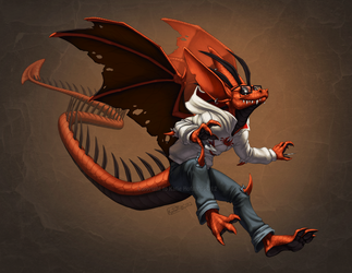 Red Doom With a Grin by KatieHofgard