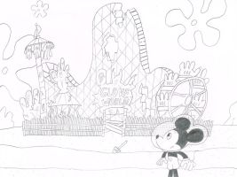 Mickey Mouse at Abandoned Glove World by thecrazyworldofjack