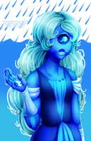 [for sale/speedpaint] Sapphire by serpyra