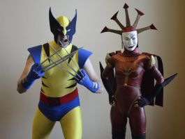 Wolverine and Hexadecimal by Hyokenseisou-Cosplay