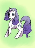 Rarity Sketch by GuiltyP