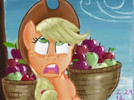 Apple-faint by The-Wizard-of-Art