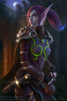Void Elf Rogue Sharwyn by Jorsch