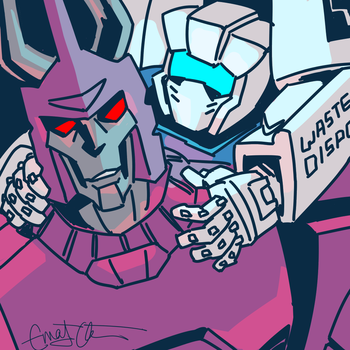 Cyclonus and Tailgate by Underbase