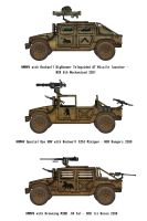 Fallout Humvees - NCR Mojave Expeditionary Force by penguin-commando