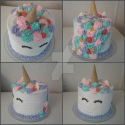 My First Unicorn Cake by InkArtWriter
