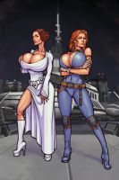 Leia and Mara by boobsgames