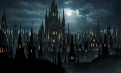 Gothic castle by higu0217