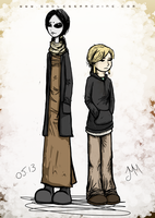 Cilla and Lucas by godlessmachine