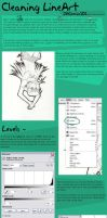 Cleaning LineArt Tutorial by Blu-Hue