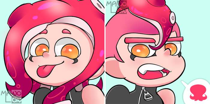 Splatoon 2: Agent 8 Icons (F2U) by Mano-Lon