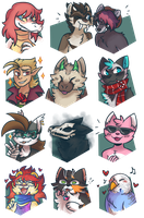December 2017 Support Portraits by ClefdeSoll