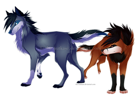 Bluke and Dwaine by NutkaseCreates