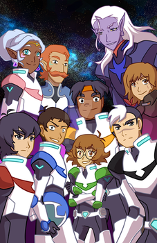 Voltron Legendary Defenders by TheCrayonQueen