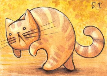 ACEO Gone cat by Siriliya