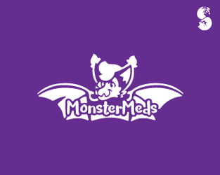 MonsterMeds-Logo by whitefoxdesigns