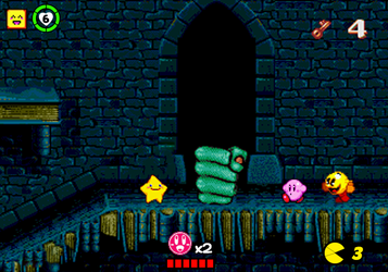 Starfy Kirby Pac-Man in The Pagemaster Game by vinhchaule
