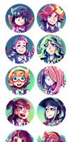 10 Little Witch Academia Icons by MarlonLeal